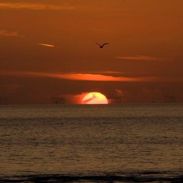 zonsondergang Castricum